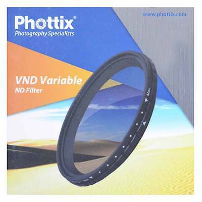 Filtro ND Variabile 72mm 2-8 Stop PHOTTIX VND per Canon Nikon Sony Pentax Tamron