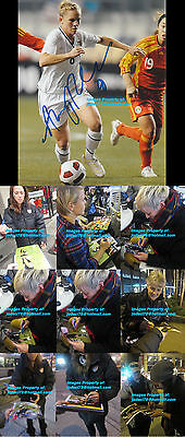 Amy Rodriguez 8 Signed TEAM USA Soccer Photo PROOF 2012 London Olympics Gold