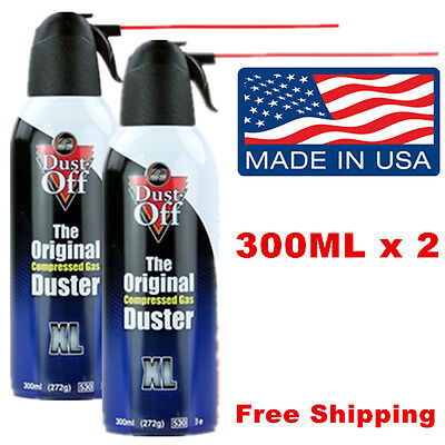 Dust-Off Compressed Air Duster 2 Cans, PC Laptop Fan CPU Electronics Cleaning