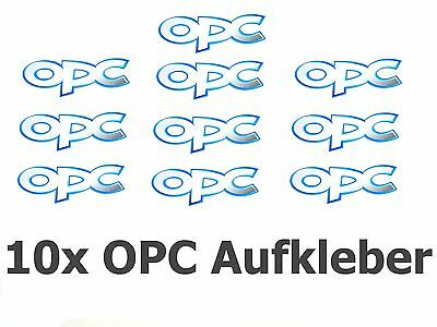 10x Opel OPC Aufkleber Emblem Badge Vectra Zafira Insignia Astra Decal 80x23mm