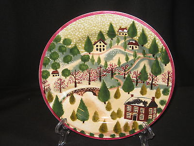 Block Country Village Winter Lunch Salad Plate - 1995