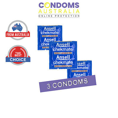 Ansell Chekmate Non-Lubricated (3 Condoms) SAMPLE PACK
