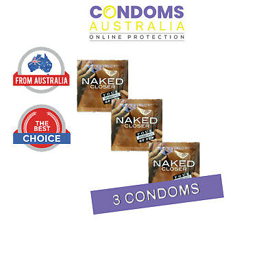 Four Seasons Naked Closer Condom (3 Condoms) SAMPLE PACK