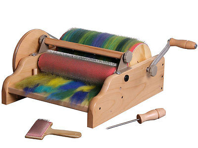 "DRUM CARDER  12"" WIDE  for Felting Spinning  Blending  New in Box by ASHFORD NZ"