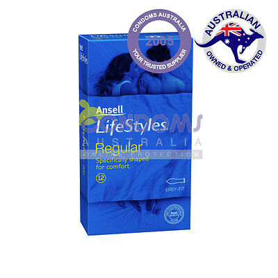 Ansell Lifestyles Regular Condoms (12 Condoms) Retail Pack