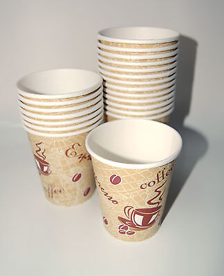 50 DISPOSABLE COFFEE PAPER CUPS 8OZ 250ML - Free Shipping !!!
