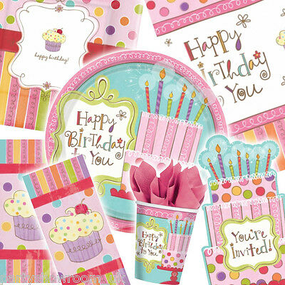 Sweet Stuff Girl Happy Birthday Party Tableware Decorations One Listing PS