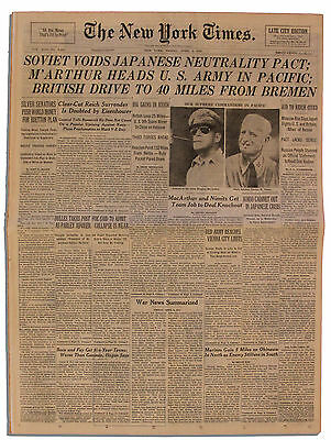 NYT: MacArthur & Nimitz Appointed Supreme Commanders