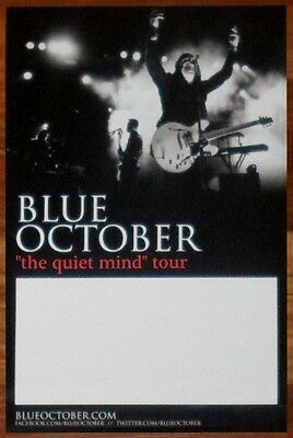 BLUE OCTOBER Any Man In America Quiet Mind Tour Ltd Ed Discontinued RARE Poster!
