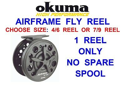 Okuma Airframe Large Arbor Fly Reel Game Fishing For Trout Rod & Line 4/6 Or 7/9