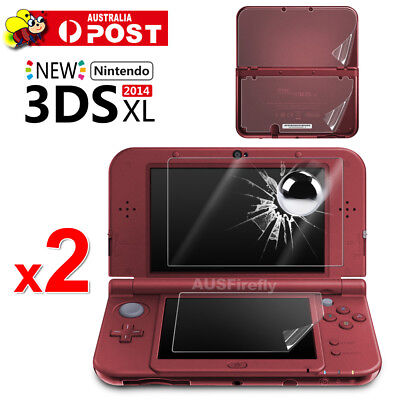 2x Tempered Glass Clear Screen Protector For New Nintendo 3DS XL Anti-Scratch AU