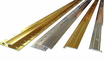 ALL Carpet Door Bars Metal Plates Threshold - 3ft in Silver or Brass