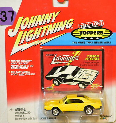 JOHNNY  LIGHTNING THE LOST TOPPERS CUSTOM CHARGER YELLOW