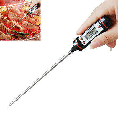 Digital LCD Thermometer Food Meat Turkey BBQ Kitchen Catering Cooking Probe Hot