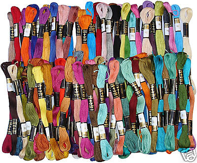 100 Anchor Cross Stitch Embroidery Thread Floss / Skeins, Free Postage