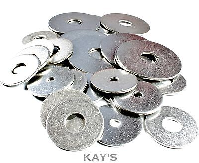 A2 Stainless Steel Penny Repair Washers For Metric Bolts/Screws M4,5,6,8 x 25mm