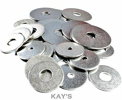 PENNY/REPAIR WASHERS A2 STAINLESS STEEL FOR BOLTS,SCREWS M4,5,6,8 x 25mm