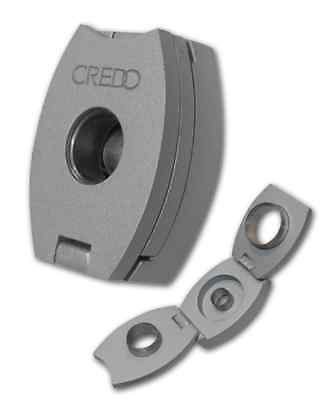 Credo 3 In 1 Cigar Punch Cutter – Oval – Silver