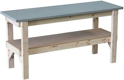 Work bench 1800 x 600mm with steel laminated bench top