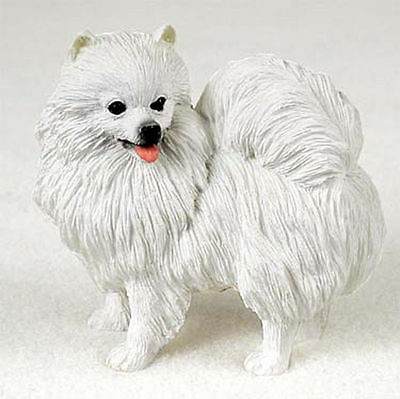 American Eskimo Miniature Figurine Hand Painted Collectible Statue