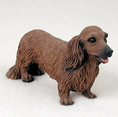 Dachshund Hand Painted Collectible Dog Figurine Red Long Haired