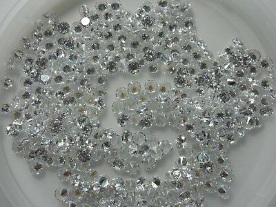 5mm round clear white cubic zirconia loose gemstones 2 stones for £1