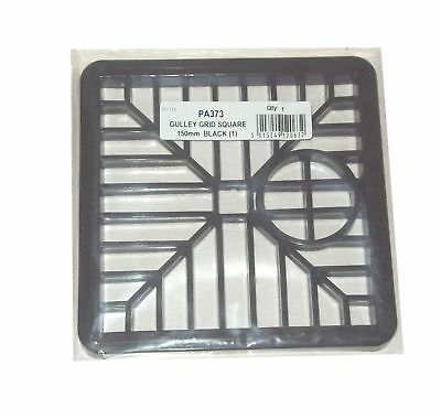 pack of 2 GULLEY GRID DRAIN COVER LID BLACK PVC 6 INCH 150MM SQUARE