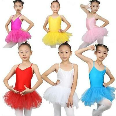 CT01# Girls Ballet Tutu Skirt Leotard Dance Skate 4 Sizes 7 Colors
