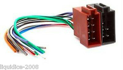 Pc2-36-0 Male To Bare End Iso Connection Stereo Head Unit Harness Adaptor Lead