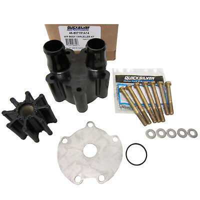 Mercruiser New OEM Sea Water Pump Repair Kit 46-807151A14 Waterpump Impeller Hsg
