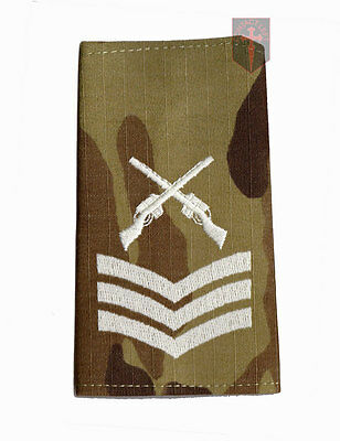 Pair SGT MULTICAM MTP SAA Rank Slides Sergeant ( Skill At Arms Instructor