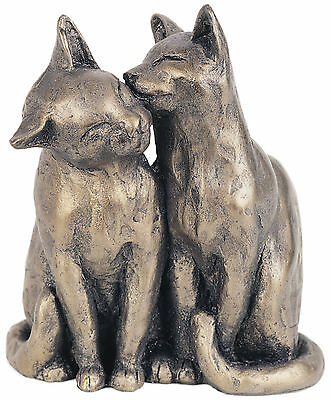 'Yum Yum and friend' Bronze Cat Sculpture ornament statue by Paul Jenkins Frith