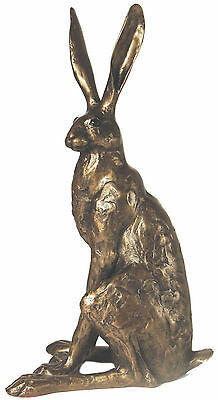 'Sitting Hare' - Large Bronze Hare sculpture ornament by Paul Jenkins - Frith