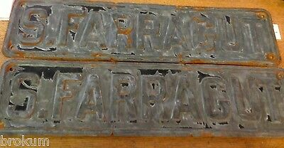 One Vintage S. FARRAGUT Street Sign ~ Bay City, Michigan