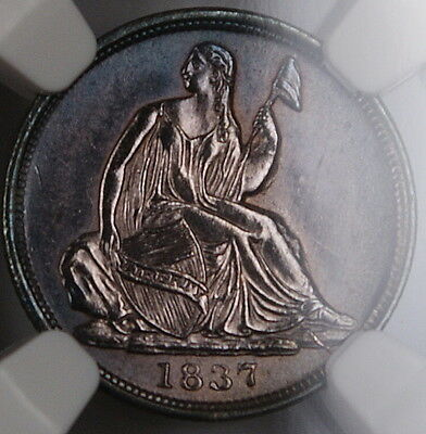 1837 Seated Liberty Silver Half Dime NGC UNC Details Very Choice BU Coin
