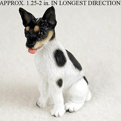 Rat Terrier Mini Hand Painted Figurine