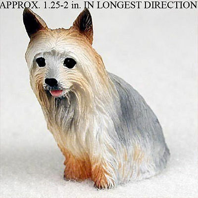 Silky Terrier Mini Resin Hand Painted Dog Figurine
