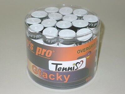 60x Pro's Pro GTacky Overgrip weiß pros pro g tacky Griffband tennis kicker