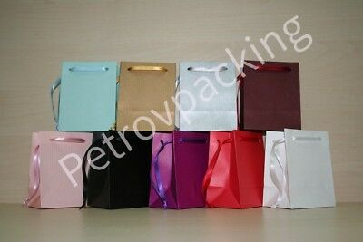 Extra Small Paper Gift Bags  Pink,White,Black,Gold,Silver,Blue Pack Of  50