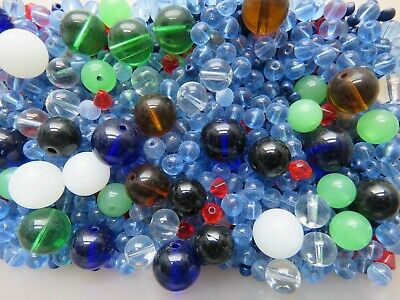 Job Lot a Half Kilograms Of Mixed Glass Beads For Sale