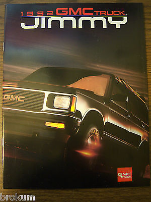 Mint 1992 Gmc Jimmy Truck Sales Brochure 25 Pages New (230)