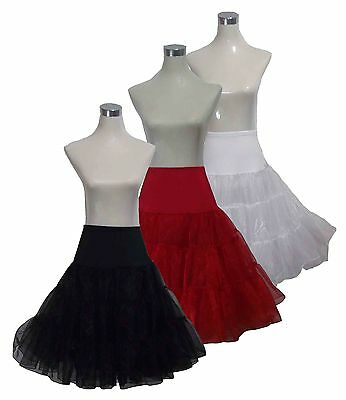"26"" RED BLACK  WHITE SWING 50s PETTICOAT RETRO UNDERSKIRT ROCKABILLY SKIRT TUTU"