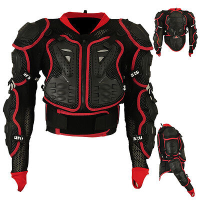 Motocross Motorbike Body Armour Motorcycle Protection Guard Jacket Blked Med