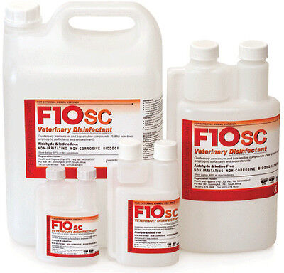F10SC 100ml F10 Super Concentrate Disinfectant Birds Reptiles Cages Cleaner Vet