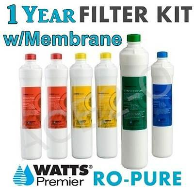Watts Premier Ro Pure 1 Year Filter Pack w/Membrane