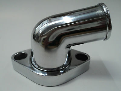 SBC BBC Polished Aluminum 15° Swivel Water Neck Fits SB BB Chevy 327 350 454 396
