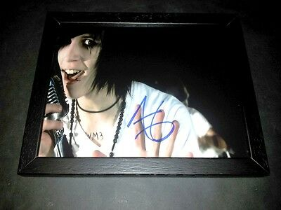 "Andy Sixx Pp Signed & Framed 10""x8"" Photo Repro Black Veil Brides Six Biersack"