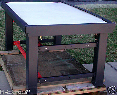 Anti Vibration Table 29.5 x 60.5 x 37.25 with Steel Top, w/ Pneumatic leveling