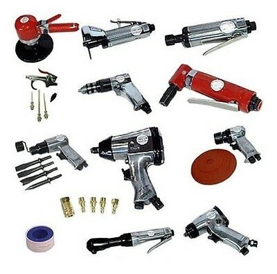 31 Pc Automotive Shop Pneumatic Steel Air Tool Drill Wrench Ratchet Bit Set Kit