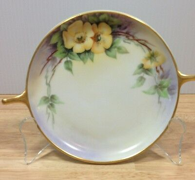 Imperial Austria Porcelain Handpainted Signed Bonnot Floral VTG Wall Plate